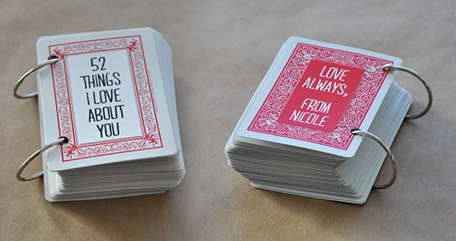 52 things i love about you card deck template free