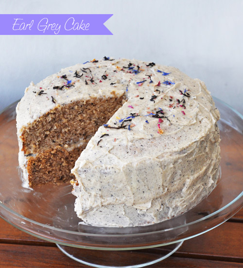 Lemon Cake With Earl Grey Frosting