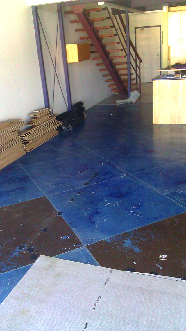 Painted Concrete Floors - before