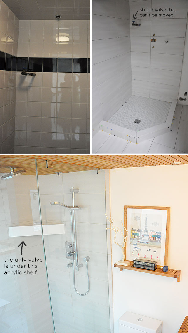 Acrylic Shower Shelf