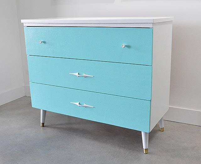 vintage dresser after