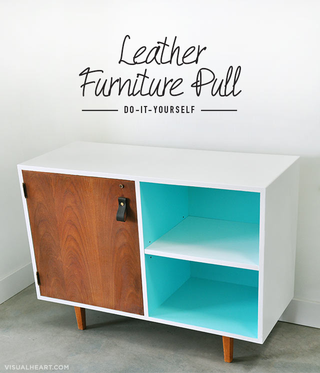 leather furniture pull diy tutorial