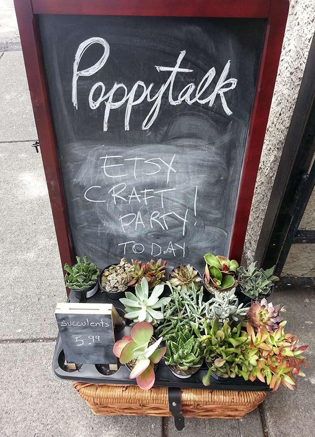 poppytalk etsy craft party