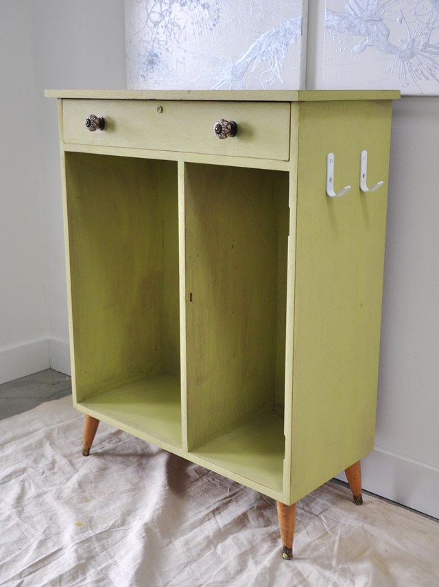 Vintage Cabinet Before and After