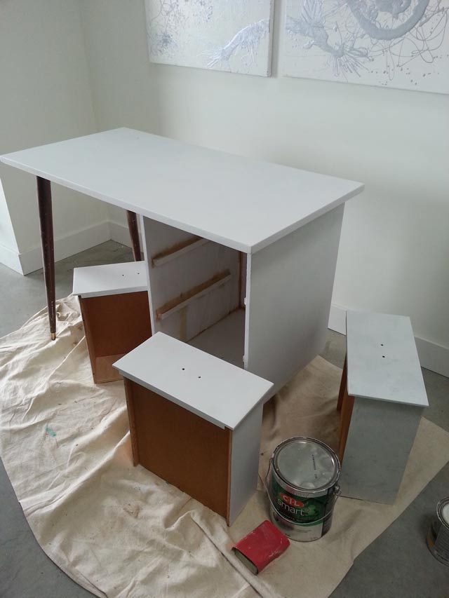 Vintage Desk Before and After