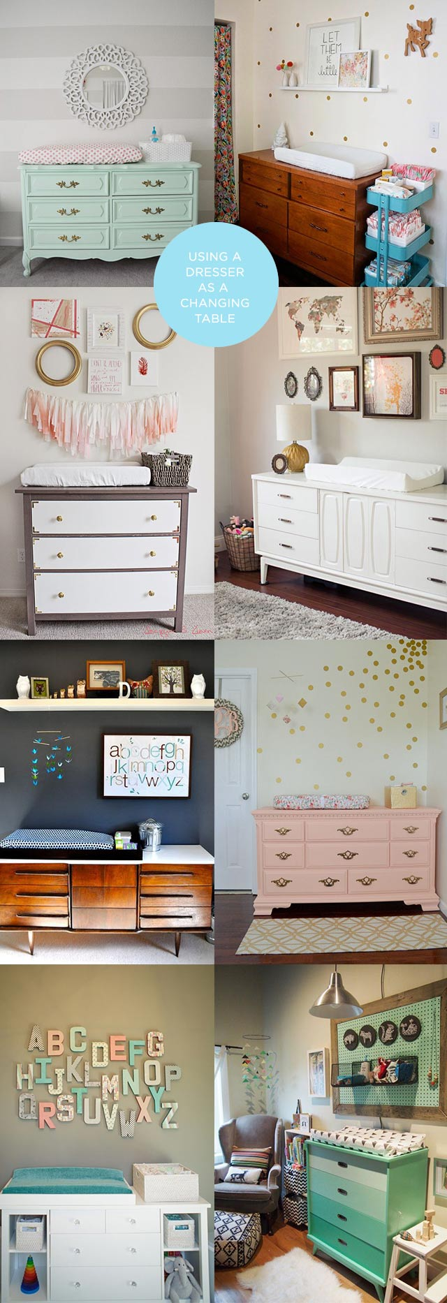 Using A Vintage Dresser As A Changing Table