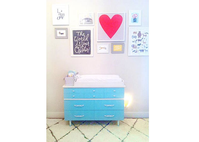 refinished dresser baby changing table