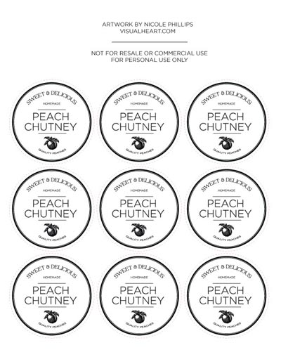 chutney label templates - peach chutney recipe for canning by