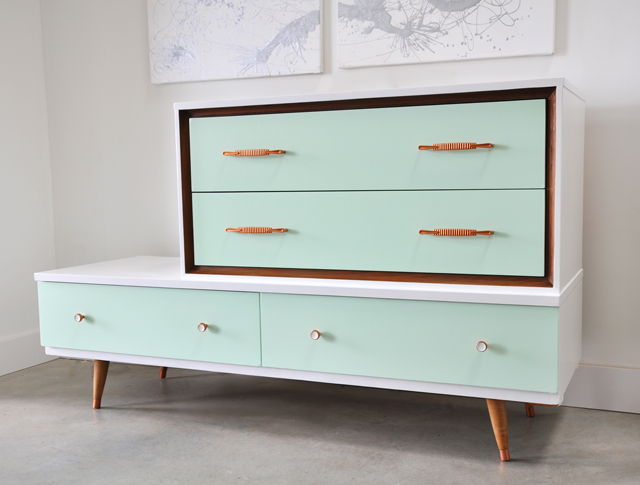 Mid Century Modern Dresser Before And After