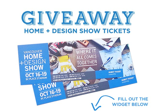 vancouver home and design show tickets
