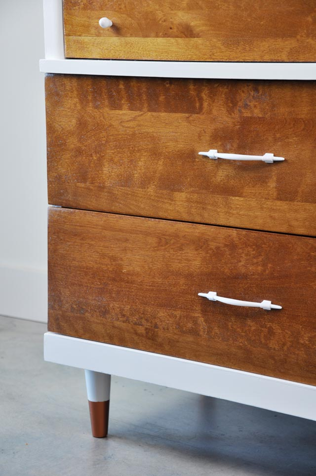 Vintage Dresser before and after