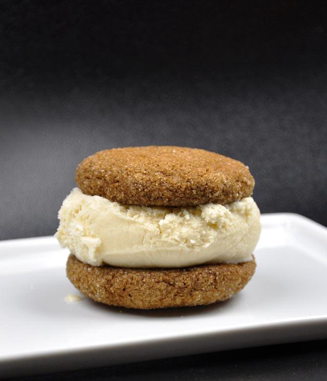 Ginger Snap Cookie Ice Cream Sandwich