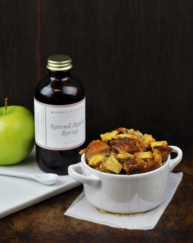 eggnog apple bread pudding recipe