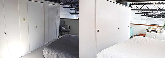 loft bedroom before and after