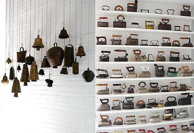 vintage bell and iron collection