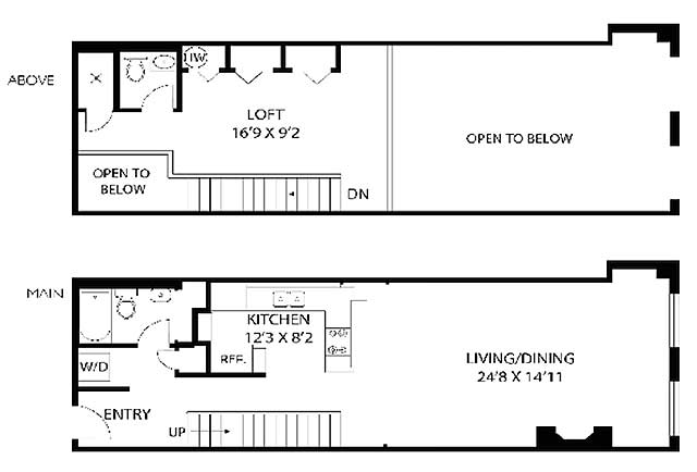 Charming Loft Apartment Floor Plan