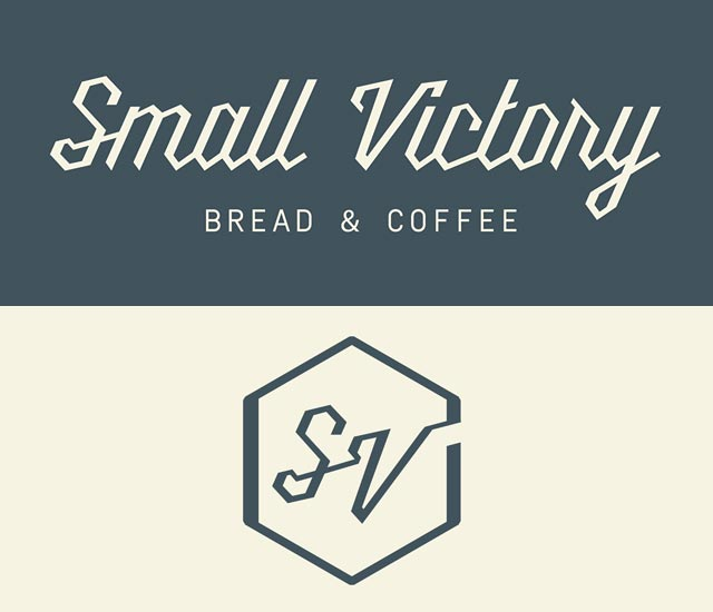 small victory bakery logo design
