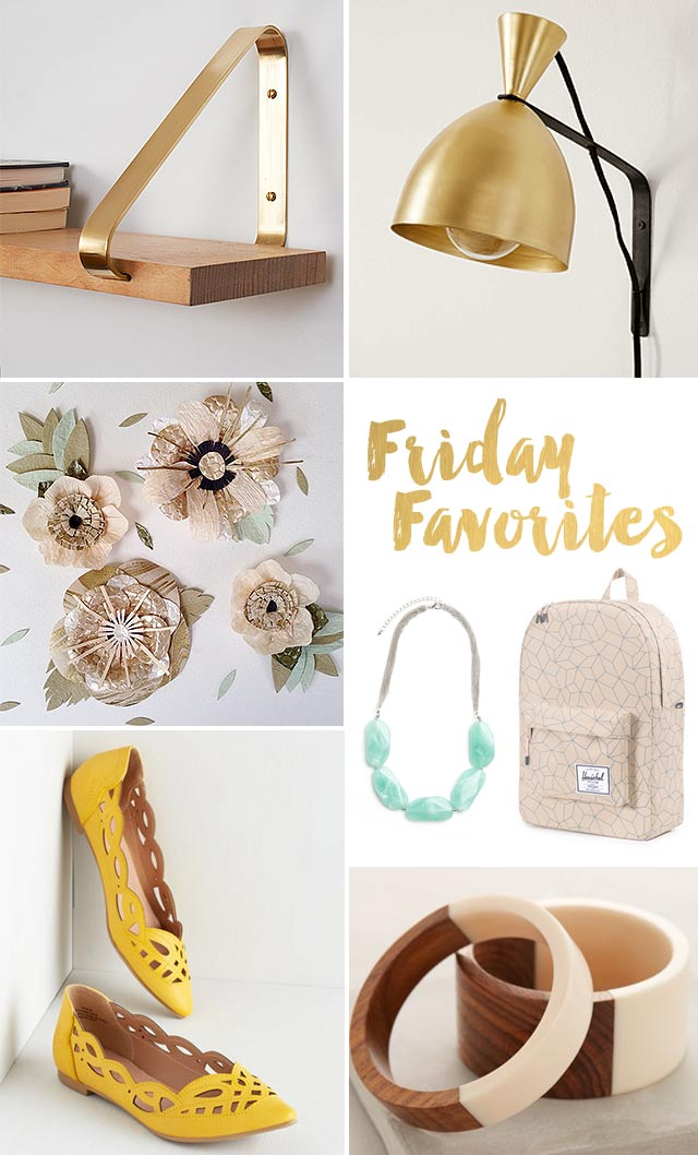 friday favorites accessories and brass
