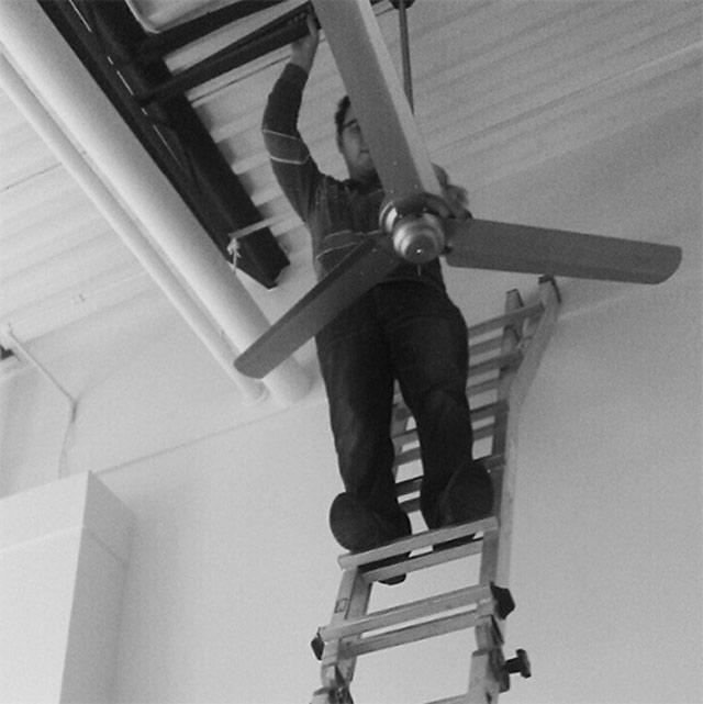 installing loft ceiling fan