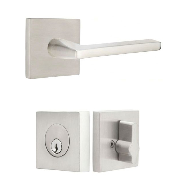 Modern front door hardware by Emtek from Bradford Hardware