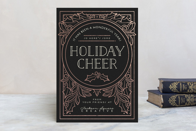 Minted metallic foil holiday cards