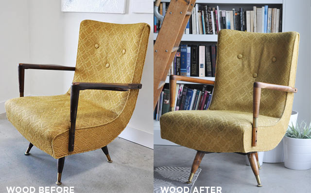 refinished vintage chair