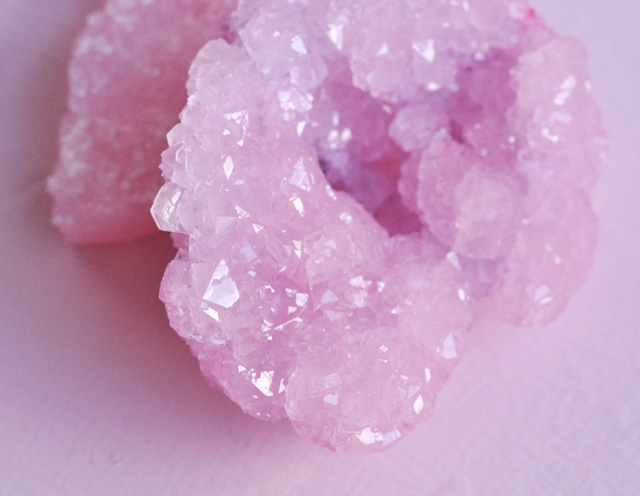 DIY Rose Quartz Crystals