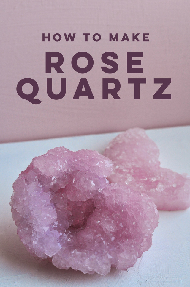 DIY Rose Quartz Crystals