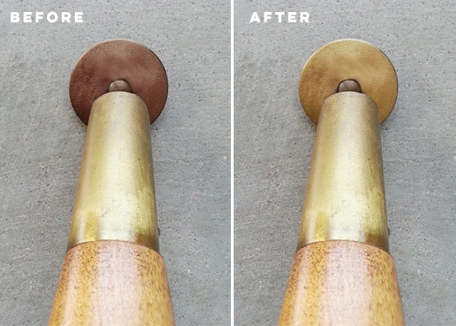 How to fix rusted furniture legs with gold Sharpie pen