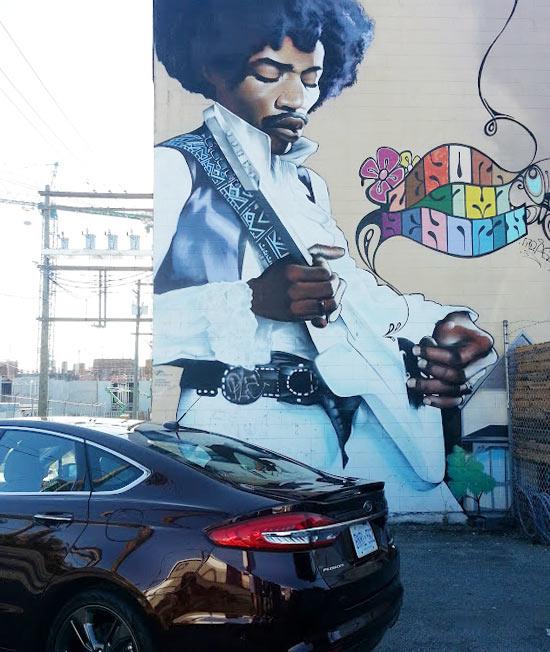 Jimi Hendrix Mural Vancouver