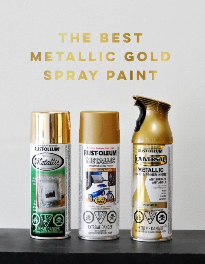 Metallic gold spray paint comparison