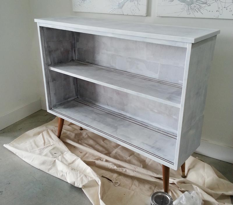 Vintage mid-century modern sideboard makeover