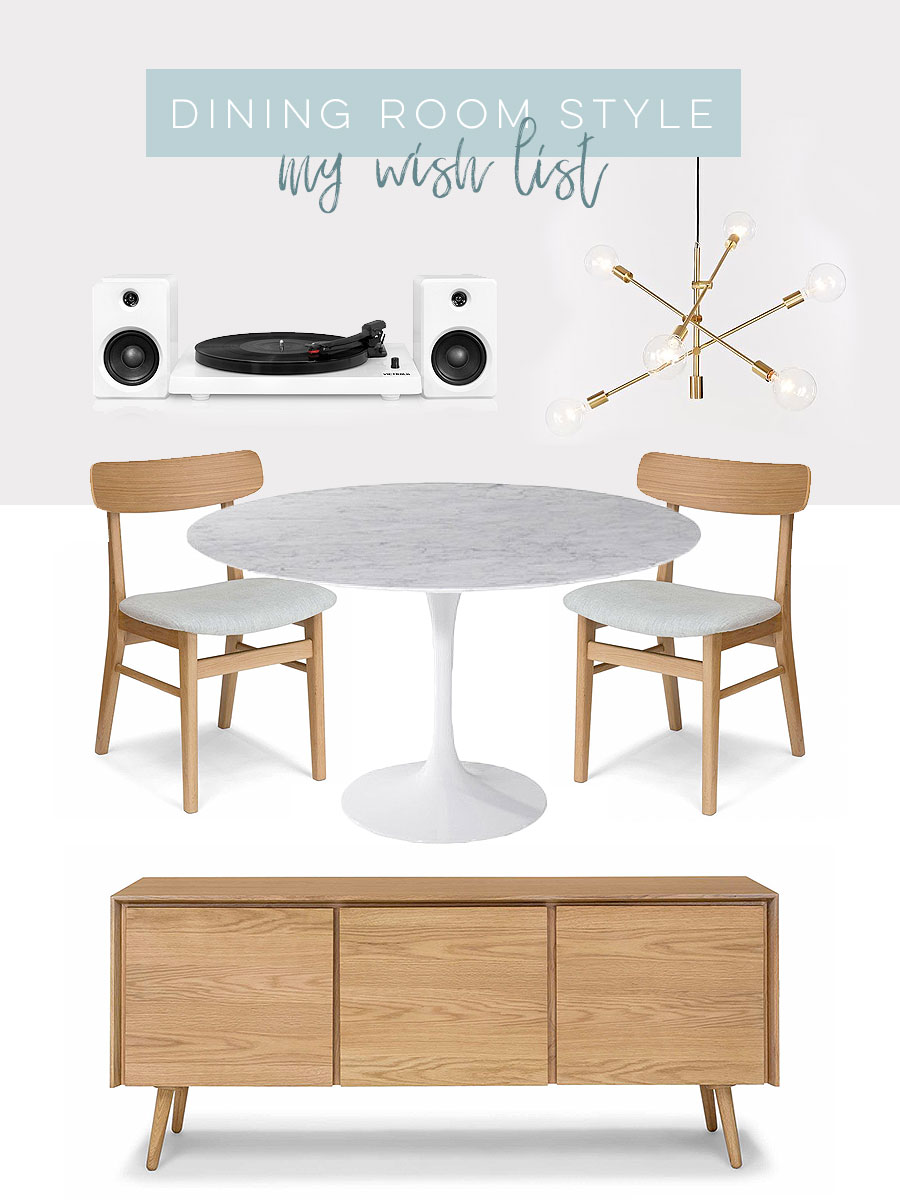 Dining room style wish list for www.visualheart.com