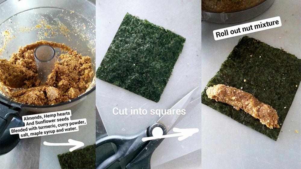 Nori Nut Snack recipe from @visualheart