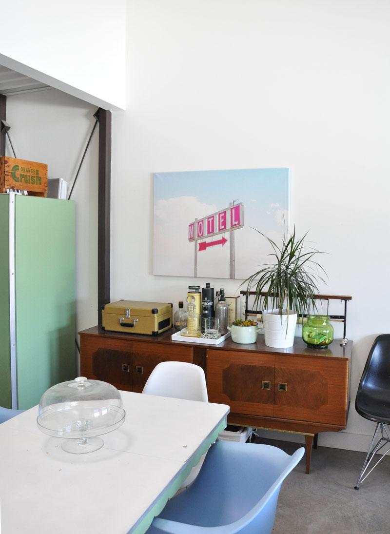 Loft dining room makeover