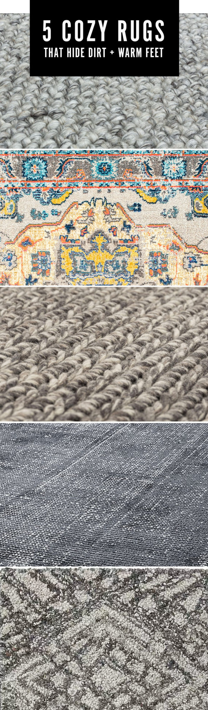5 cozy rugs that hide dirt