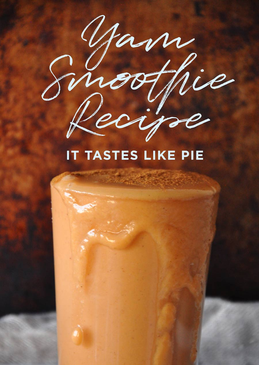 yam smoothie recipe by @visualheart