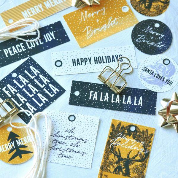 Printable Christmas gift tags by @visualheart