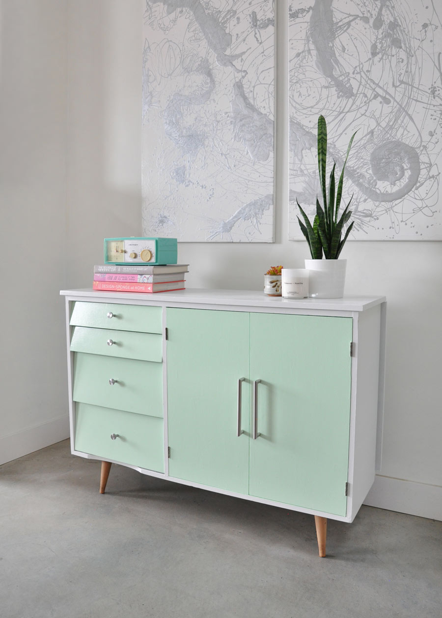 Painted Vintage Cabinet makeover