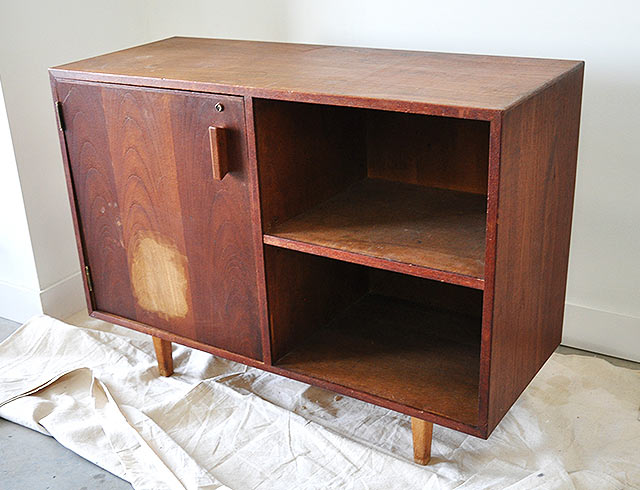 mid century modern cabinet Before and After: Mid Century Modern Cabi  visualheart  mid century modern cabinet