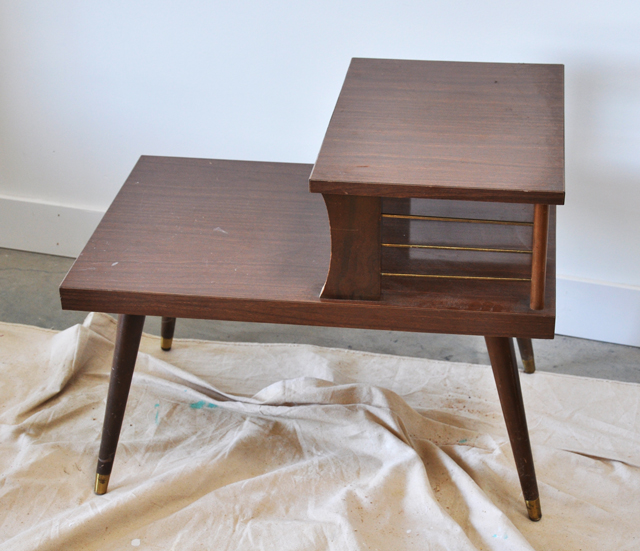 Vintage telephone table before and after - Before And After: Vintage Telephone Table - Visual Heart Creative Studio