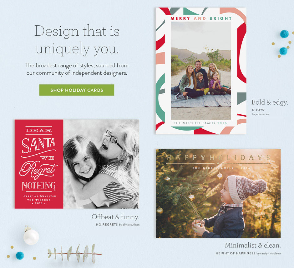 Spread Joy with Minted Holiday Cards - visualheart creative studio