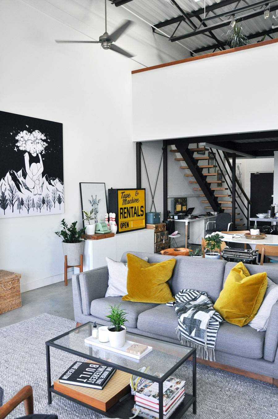 Loft Apartment Decor Updated with Article - visual heart ...