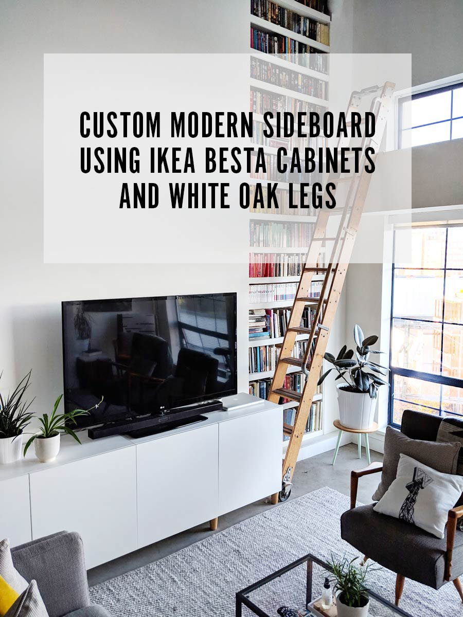 surprising modern living room credenza | Modern Scandinavian Sideboard on a Budget Using IKEA Besta ...