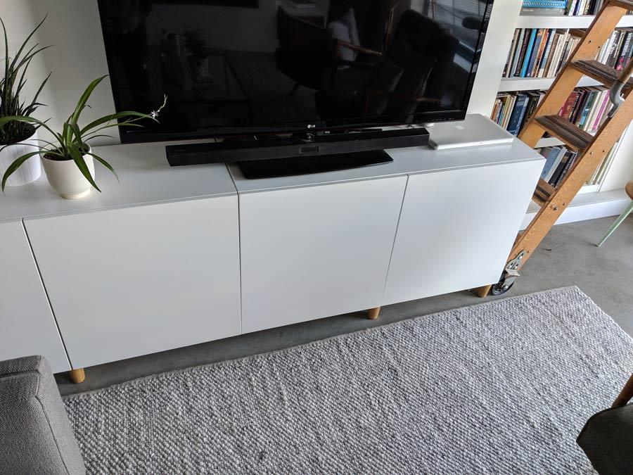 Ikea Cabinet Credenza : Modern scandinavian sideboard on a budget using ikea besta
